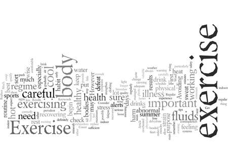 Exercise typography text art vector illustration