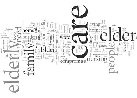 Elder Day Care typography text art vector illustration