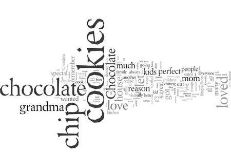 Chocolate Chip Cookies typography text art vector illustration