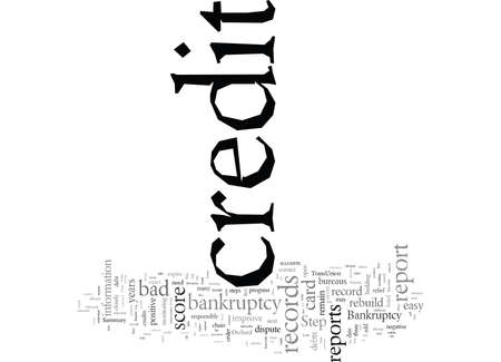 Rebuild Your Credit after Bankruptcy typography text art vector illustration