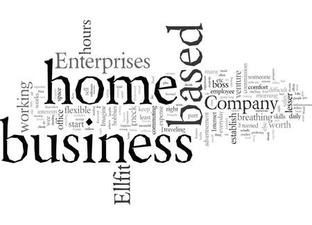 Establish Your Home Based Business, vector illustration typography text art
