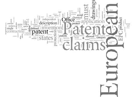 European Patent, vector illustration typography text art