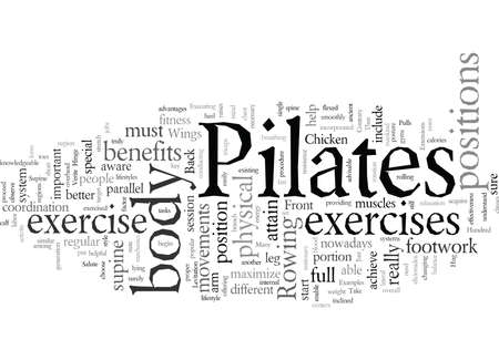 pilates, vector illustration typography text art 向量圖像