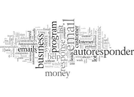 Email Autoresponders, vector illustration typography text art