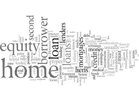 Equity Loan For Your Home, vector illustration typography text art