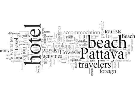 Endless Happiness At Beach Hotel Pattaya, vector illustration typography text art 向量圖像