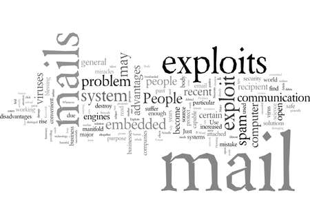 E mail Exploits A Major Problem Banco de Imagens - 132112874