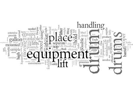 Drum Lifts, vector illustration typography text art Foto de archivo - 132444753