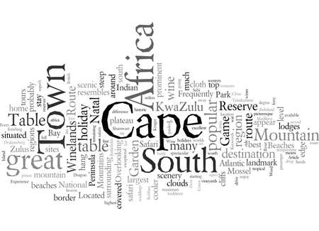 Experience South Africa, vector illustration typography text art
