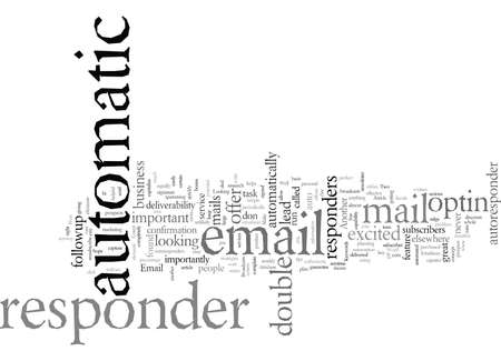 email automatic responder, vector illustration typography text art