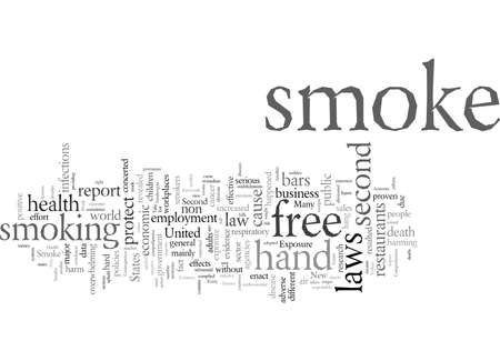 Every Breath We Take Should Be Smoke Free, vector illustration typography text art