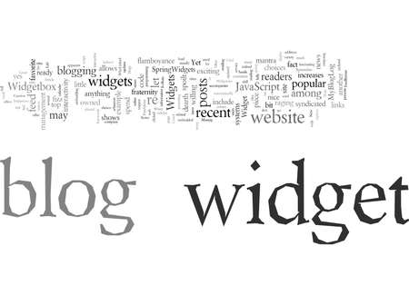 Dress Up Your Blog With Widgets, vector illustration typography text art