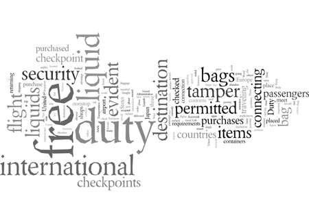 Duty Free, vector illustration typography text art Ilustração