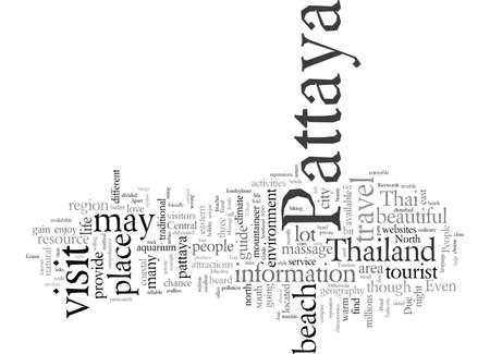 Effective Pattaya Travel Guide, vector illustration typography text art