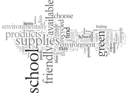School Supplies, vector illustration typography text art