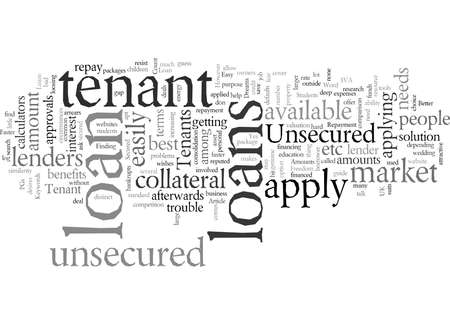 Tenant Loans, vector illustration typography text art