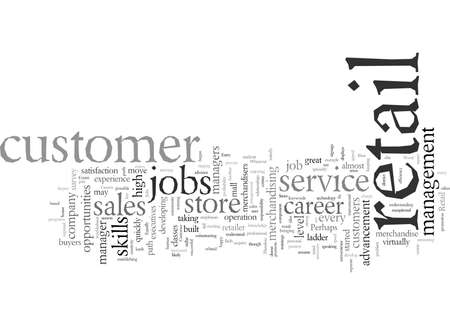Entry Level Retail Jobs Lead to Lucrative Careers, vector illustration typography text art Иллюстрация