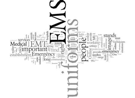 EMS Uniforms, vector illustration typography text art