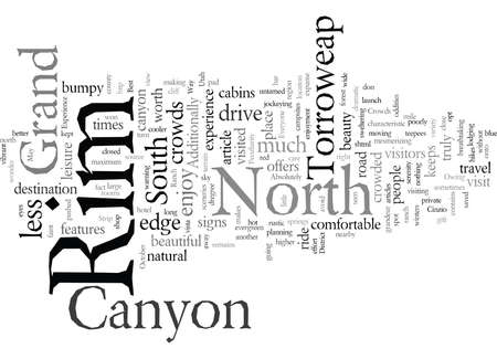 Experience the Grand Canyon, vector illustration typography text art