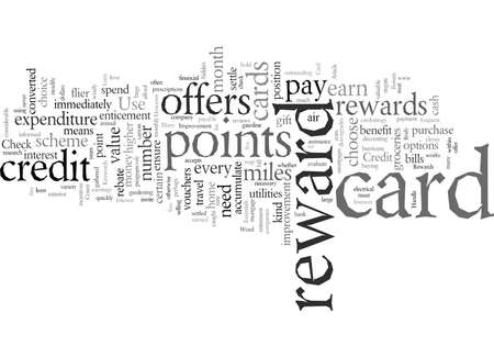 Essentials of Credit Card Rewards, vector illustration typography text art Ilustrace