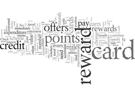 Essentials of Credit Card Rewards, vector illustration typography text art Illustration
