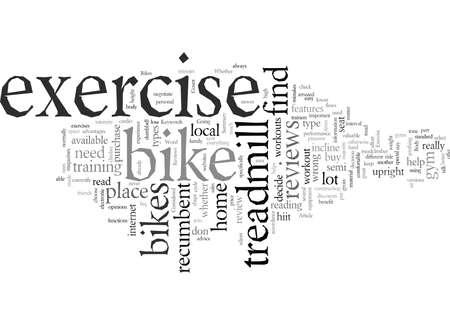 Exercise Bikes Illustration