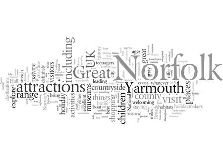 Explore Norfolk As Part Of Your Great Yarmouth Holiday, vector illustration typography text art
