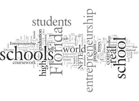 Entrepreneurship Secondary Florida Schools, vector illustration typography text art