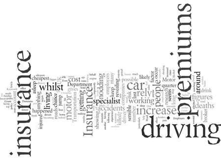 Employers Motor Insurance Premiums, vector illustration typography text art.