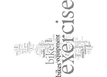 Exercise Bike Benefits, vector illustration typography text art. Illustration