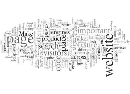 Website, vector illustration typography text art.