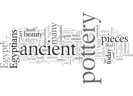 Egyptian, vector illustration typography text art.