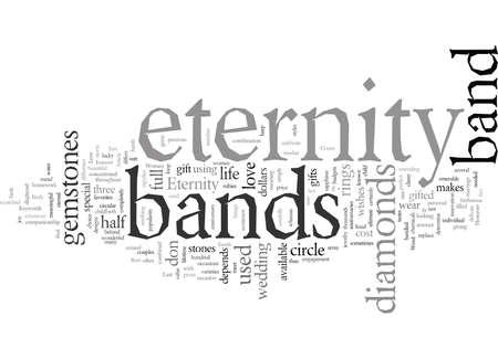 Eternity Bands, typography text art vector illustration