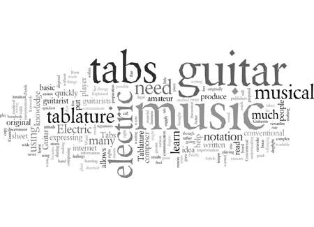 Electric Guitar typography text art vector illustration