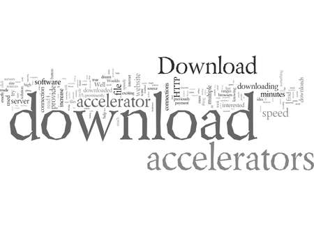 Download Accelerators, typography text art vector illustration