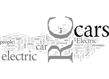 Electric RC car typography text art vector illustration Vektorgrafik