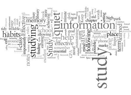 Effektive Lerngewohnheiten Typografie Textkunst Vektor-Illustration Vektorgrafik