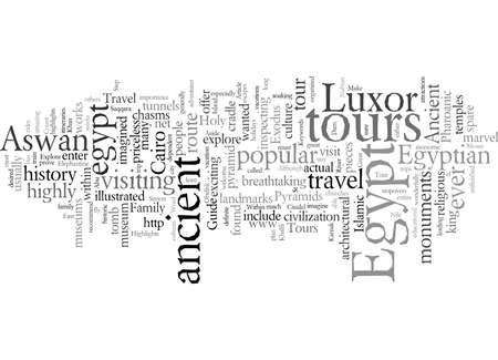 Egypt Tours Explore Ancient Egypt typography text art vector illustration Çizim