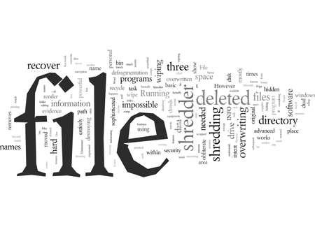 file typography text art vector illustration Stock Illustratie