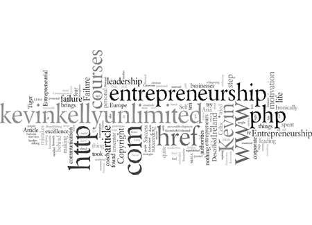 Entrepreneurship typography text art vector illustration