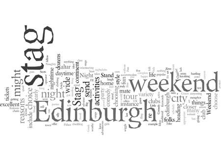 Edinburgh Stag Do Ideas typography text art vector illustration