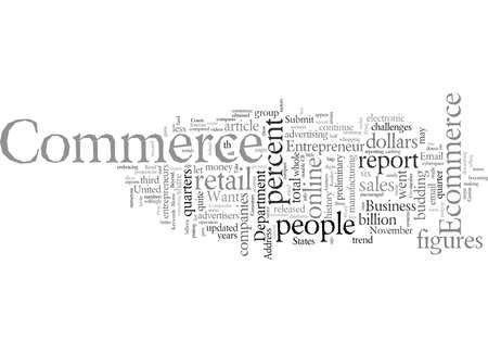 Ecommerce typography text art vector illustration