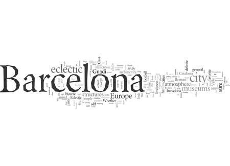 Barcelona typography text art vector illustration