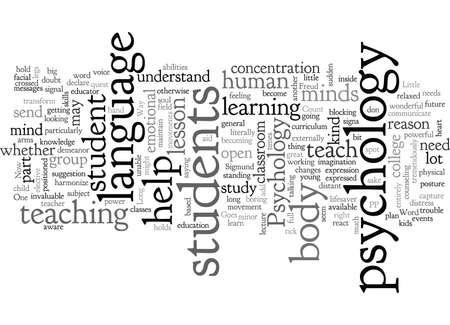 Psychology typography text art vector illustration