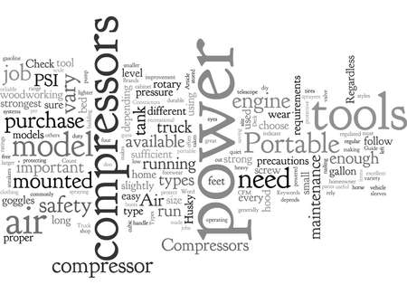 Air Compressors typography text art vector illustration