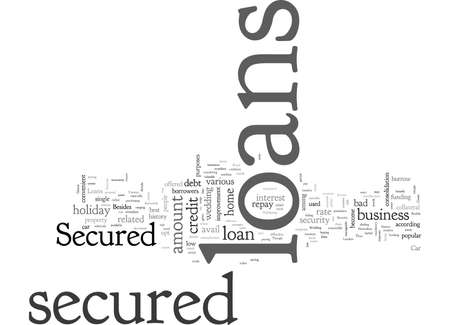 Secured Loans typography text art vector illustration