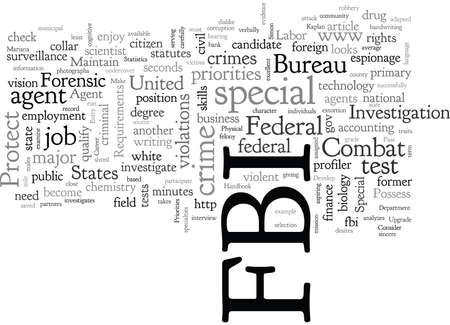 A Career with the FBI typography text art vector illustration Stockfoto - 132454529