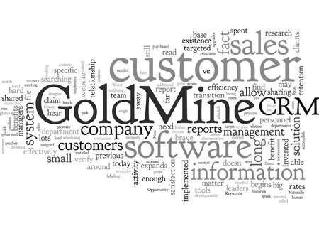 A Goldmine Of Opportunity typography text art vector illustration Ilustração