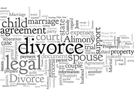 A Divorce typography text art vector illustration