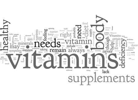 Ein Mangel an Vitaminen Vektorgrafik